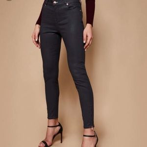 Ted Baker Aissats Wax Coated Ankle ZIP Jeans sz30